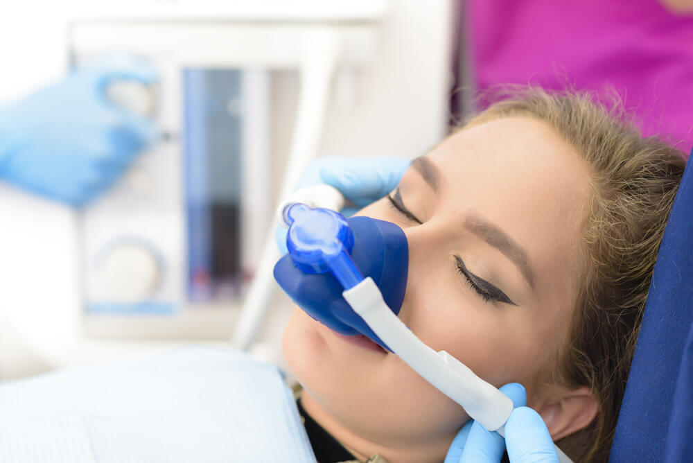 sedation dentistry showing the concept of Services