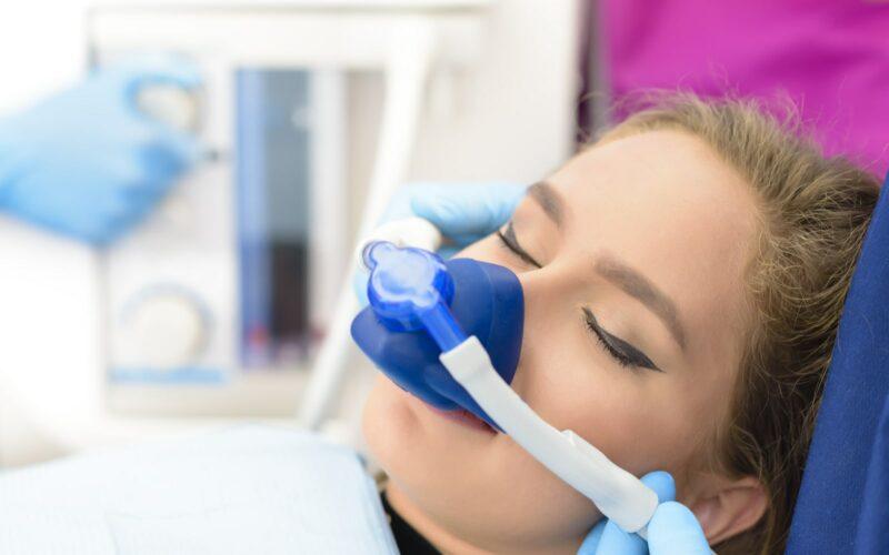 Woman undergoing sedation industry